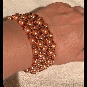 Coral colored bracelet
